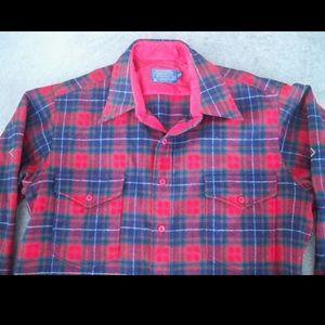 Pendleton Shirts - Men's Vtg PENDLETON Plaid Board Shirt LG Beach Boy